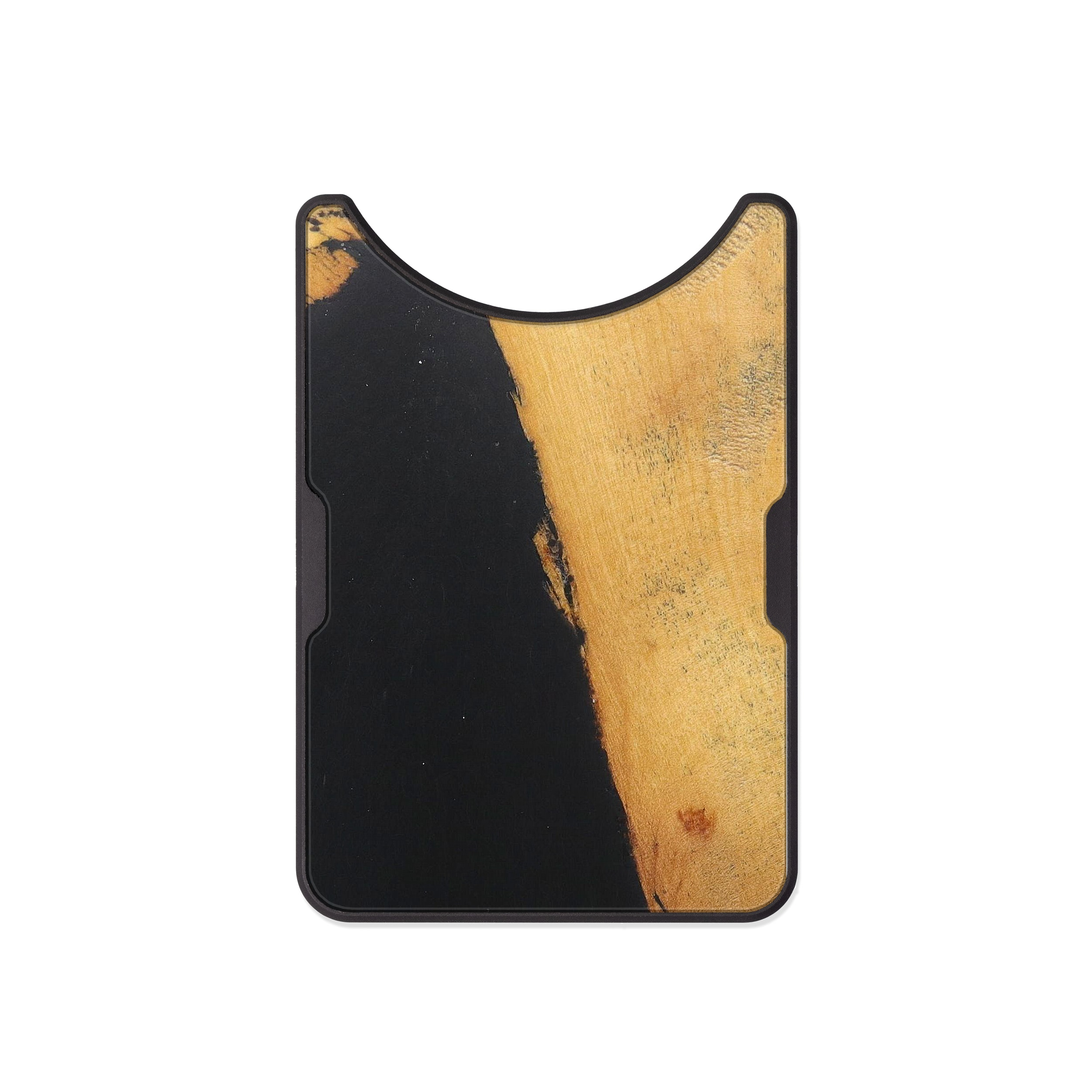 Alloy Wood+Resin Wallet - Ginnifer (Pure Black, 474053)