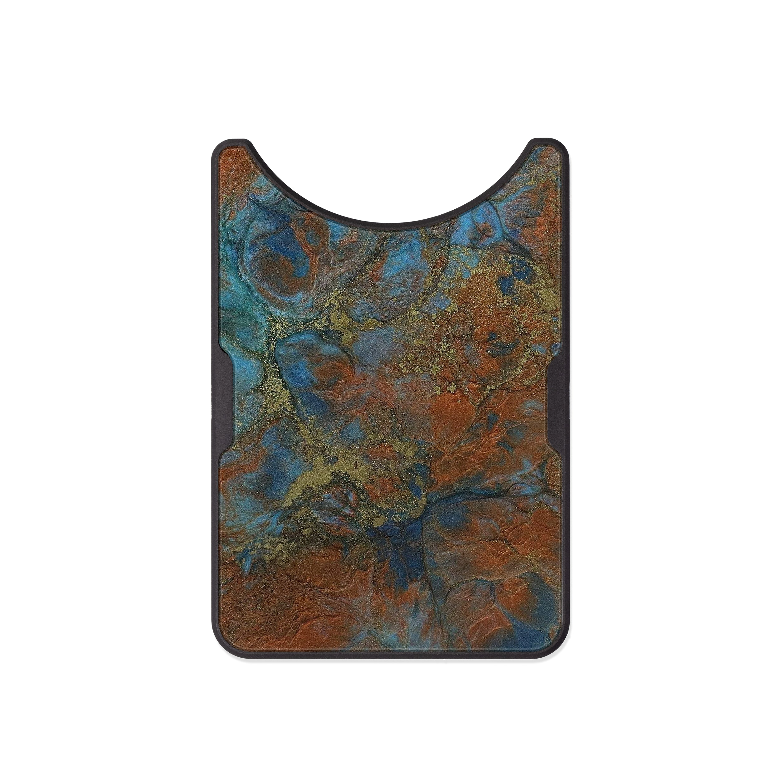 Alloy ResinArt Wallet - Rusty (Teal & Gold, 474480)